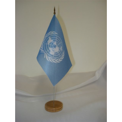 Drapeau de table ONU