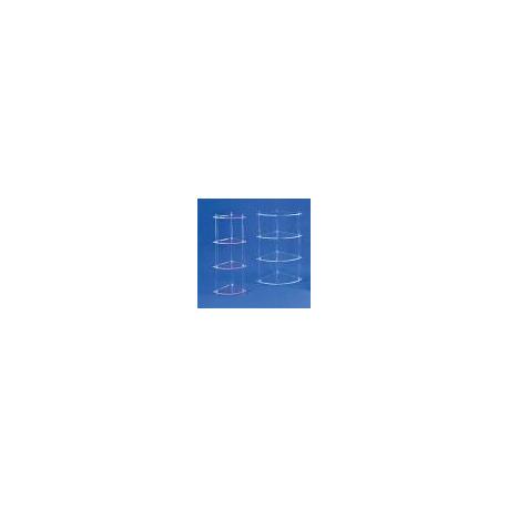 Etagère d'angle cristal tablette 1/4 cercle 25cm de rayon