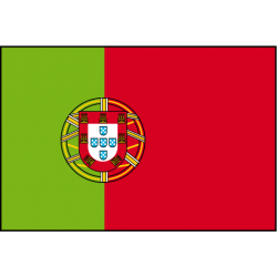 Drapeau de table Portugal avec ecusson