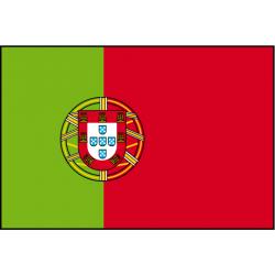 Drapeau de table Portugal avec ecusson