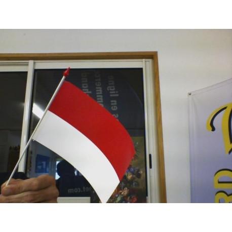 drapeau plastique MONACO 10*15 CM