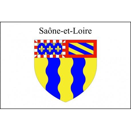 Drapeau Saône et Loire