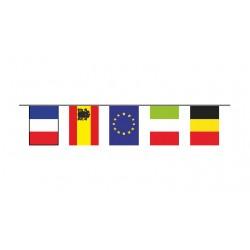Guirlande plastifié 24 pays  divers  10 metres