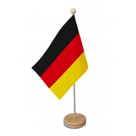 Drapeau de table Allemagne socle bois