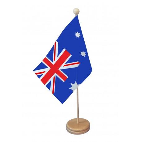 Drapeau de table Australie socle bois