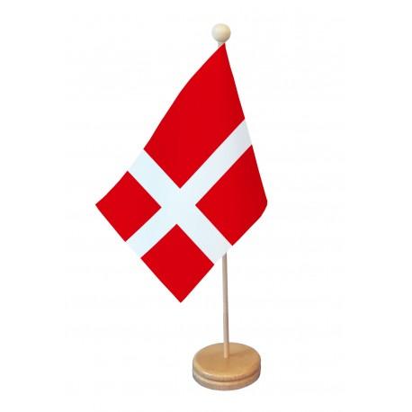 Drapeau de table Danemark socle bois