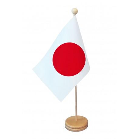 Drapeau de table Japon socle bois