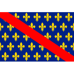 Drapeau de table bourbonnais