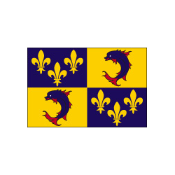Drapeau de table Dauphiné