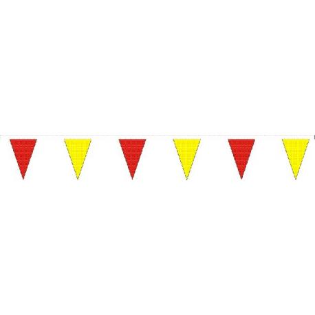 Guirlande triangulaire plastique Bicolore